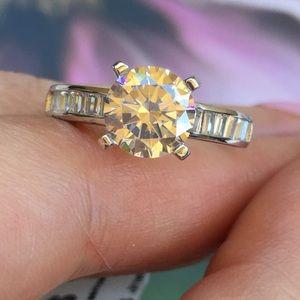 Jewelry - 14k white gold wedding 3ct diamond ring engagement